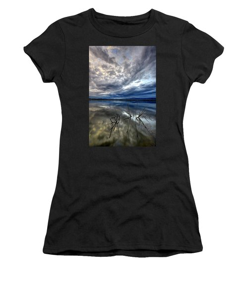 Magical Lake - Vertical Women's T-Shirt (Athletic Fit)