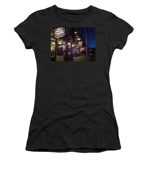 Main Street Breckenridge Colorado Women's T-Shirt (Athletic Fit)