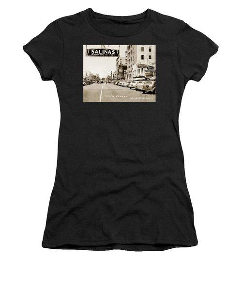 Main Street Salinas California 1941 Women's T-Shirt (Athletic Fit)