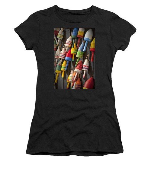 Maine Fishing Buoys Women's T-Shirt