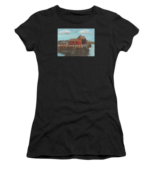 Maine Fishing Shack Women's T-Shirt (Athletic Fit)