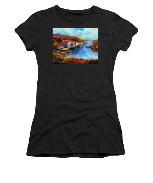 Maine Harbor Women's T-Shirt (Athletic Fit)
