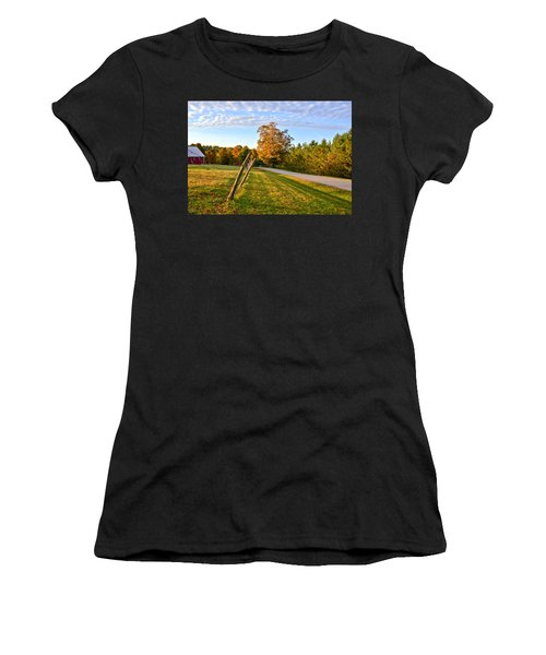 Women's T-Shirt featuring the photograph Maine Morning by Andrea Platt
