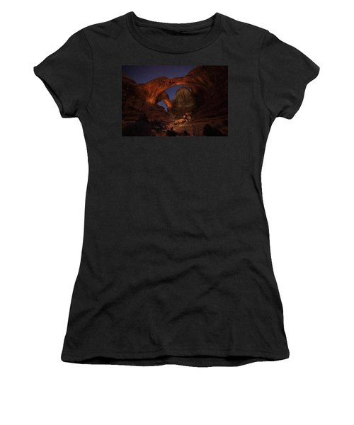 Women's T-Shirt (Junior Cut) featuring the photograph Make It A Double by David Andersen