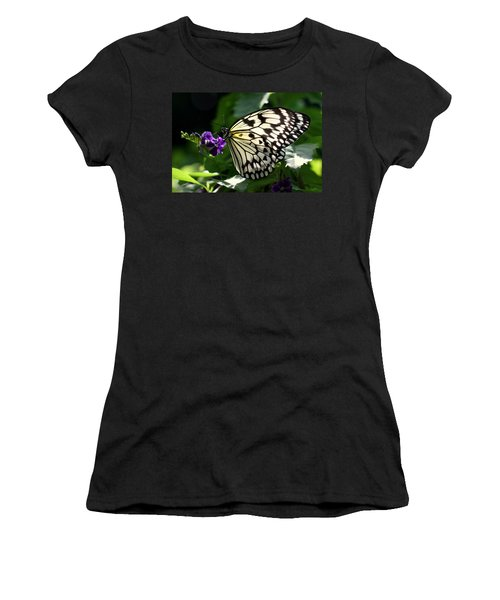 Women's T-Shirt (Junior Cut) featuring the photograph Malabar Tree Nymph  by Suzanne Stout