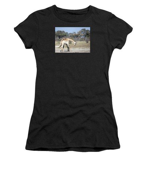Male Giraffes Necking Women's T-Shirt