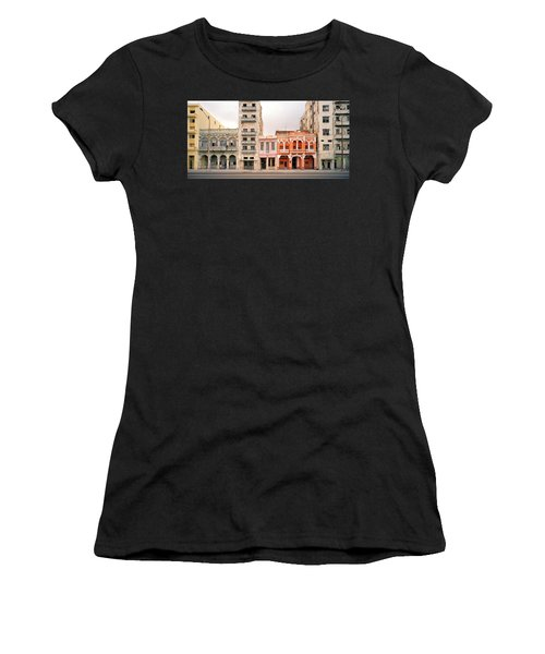 Malecon In Havana Women's T-Shirt (Athletic Fit)