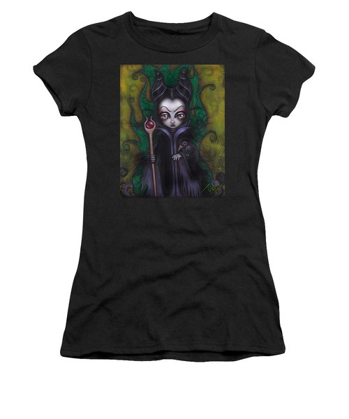 Maleficent  Women's T-Shirt (Junior Cut) by Abril Andrade Griffith