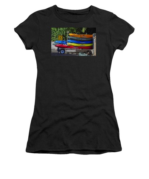Malibu Kayaks Women's T-Shirt (Athletic Fit)