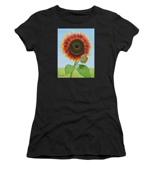 Mandy's Magnificent Sunflower Women's T-Shirt (Athletic Fit)