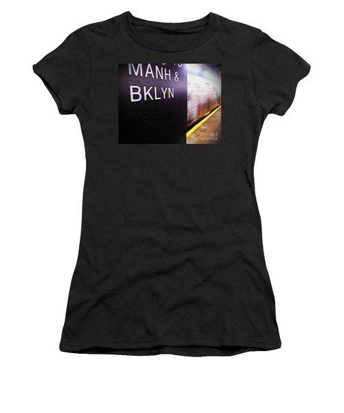 Manhattan And Brooklyn Women's T-Shirt (Junior Cut) by James Aiken