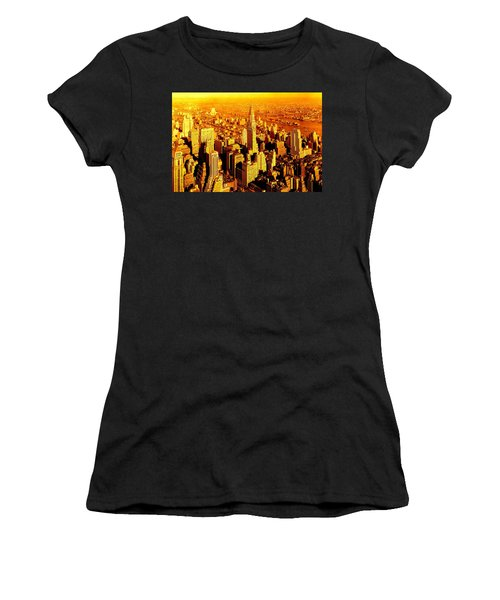Manhattan And Chrysler Building Women's T-Shirt