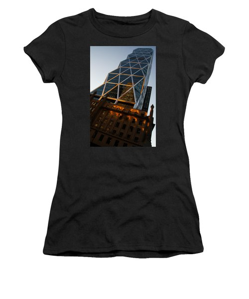 Manhattan Blues And Oranges Women's T-Shirt (Athletic Fit)