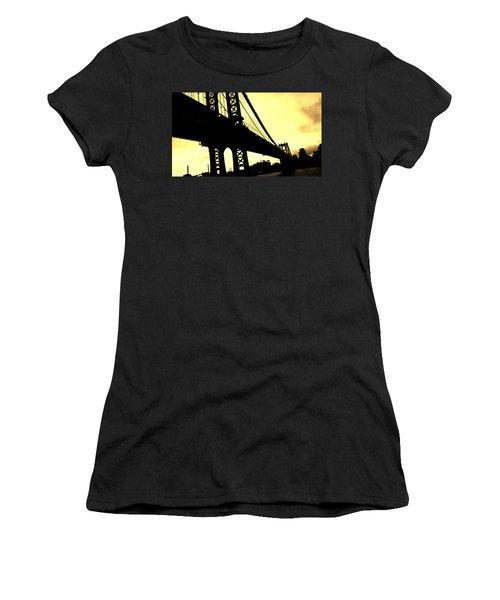 Manhattan Bridge Women's T-Shirt (Junior Cut) by Paulo Guimaraes