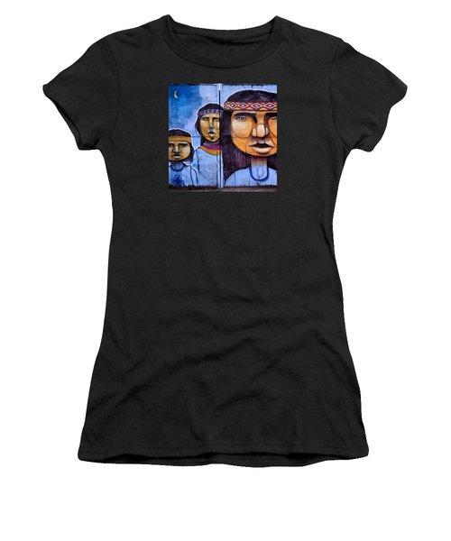 Mapuche Chilean Aborigine Graffiti's Women's T-Shirt (Athletic Fit)
