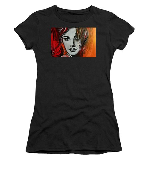 Women's T-Shirt (Junior Cut) featuring the painting Mara by Sandro Ramani