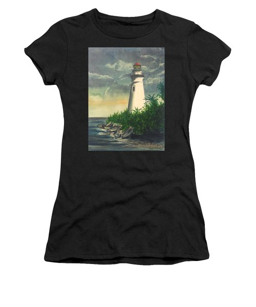 Marblehead Light On Lake Erie Women's T-Shirt