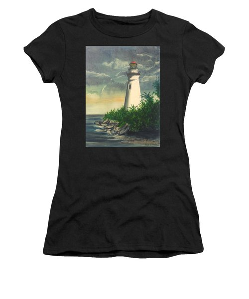 Marblehead Light On Lake Erie Women's T-Shirt (Athletic Fit)