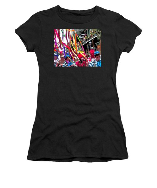 Women's T-Shirt (Junior Cut) featuring the photograph Mardi Gras Marching Parade by Luana K Perez