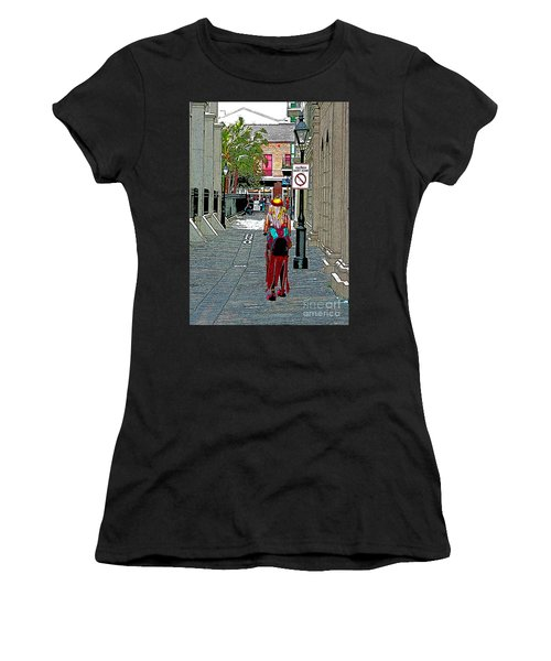 Mardi Gras In French Quarter Women's T-Shirt (Athletic Fit)