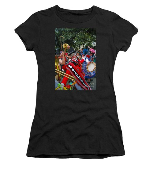 Mardi Gras Storyville Marching Group Women's T-Shirt (Athletic Fit)