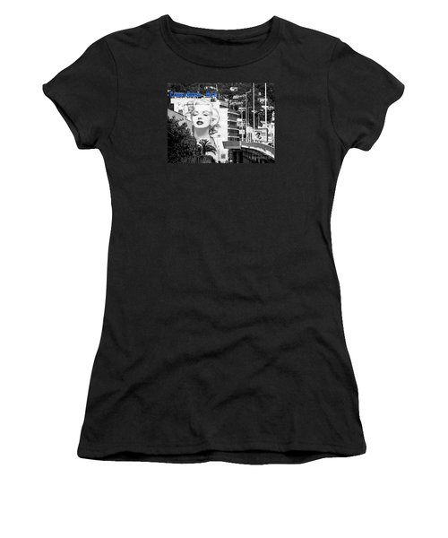 Women's T-Shirt (Junior Cut) featuring the photograph Marilyn In Cannes by Jennie Breeze