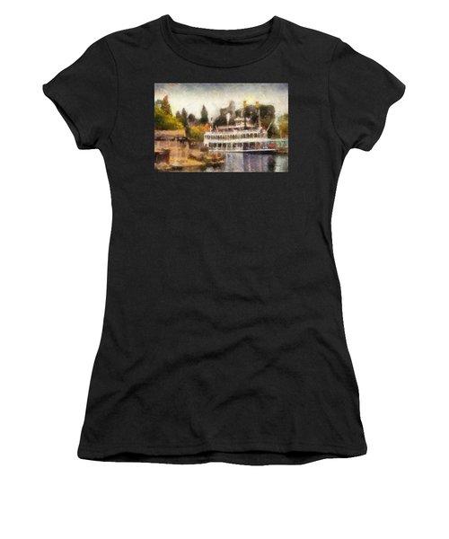 Mark Twain Riverboat Frontierland Disneyland Photo Art 02 Women's T-Shirt (Athletic Fit)
