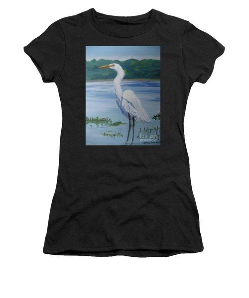 Marsh Land Egret Women's T-Shirt