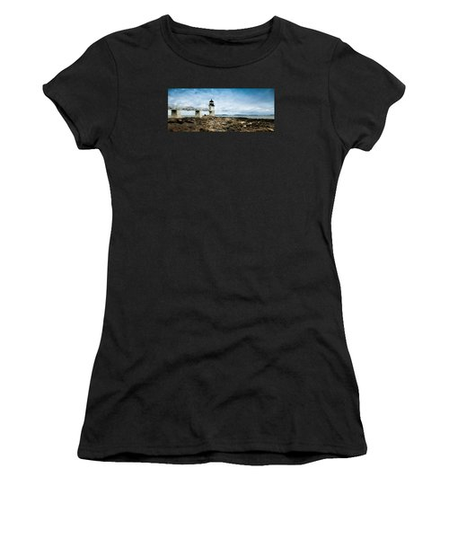 Marshall Point Lighthouse Panoramic Women's T-Shirt (Athletic Fit)