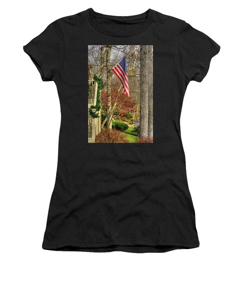Maryland Country Roads - Flying The Colors 1a Women's T-Shirt