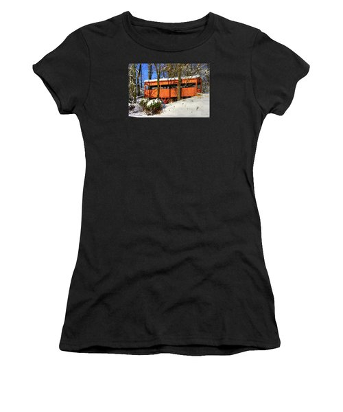 Maryland Country Roads - The Hidden Covered Bridge Of Braddock Mountain - Frederick County Women's T-Shirt