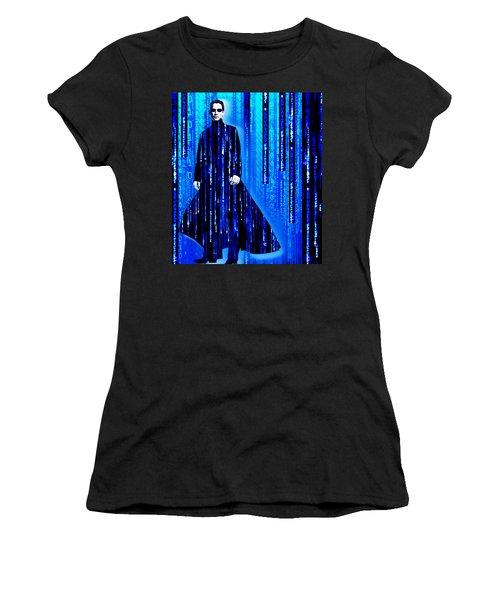 Matrix Neo Keanu Reeves 2 Women's T-Shirt