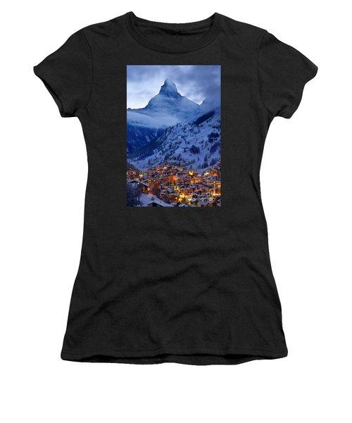 Matterhorn At Twilight Women's T-Shirt (Athletic Fit)
