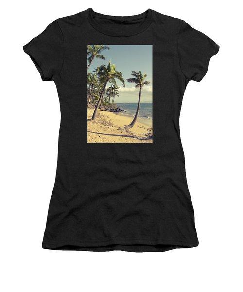 Women's T-Shirt featuring the photograph Maui Lu Beach Hawaii by Sharon Mau