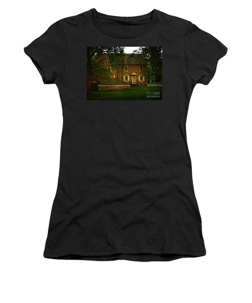 Women's T-Shirt (Junior Cut) featuring the photograph Mcconkey's Ferry Inn by Debra Fedchin