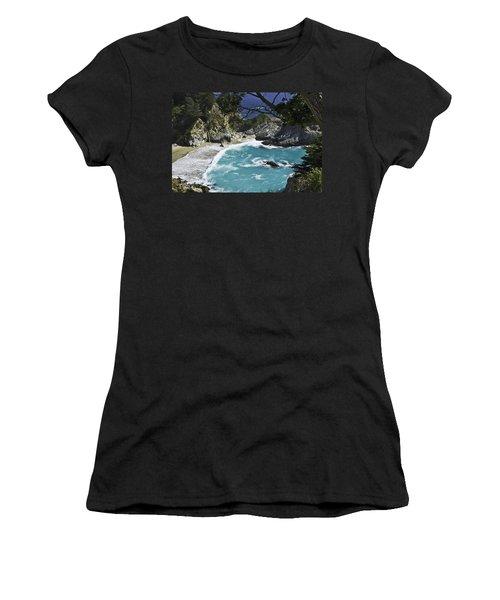 Mcway Falls - Big Sur Women's T-Shirt (Athletic Fit)