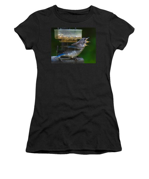 Women's T-Shirt featuring the photograph Me First - Me First by Robert L Jackson