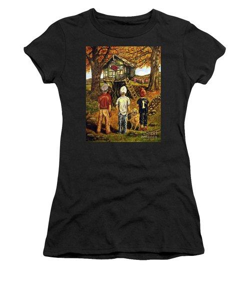 Meadow Haven Women's T-Shirt (Junior Cut) by Linda Simon