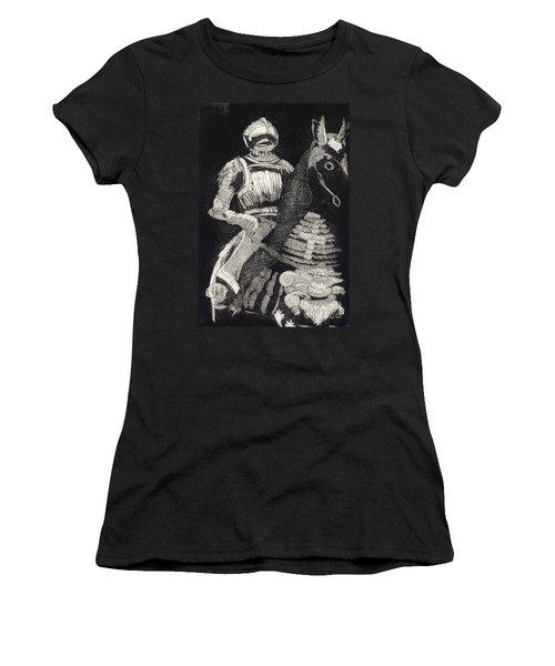 Medieval Knight On Horseback - Chevalier - Caballero - Cavaleiro - Fidalgo - Riddare -ridder -ritter Women's T-Shirt