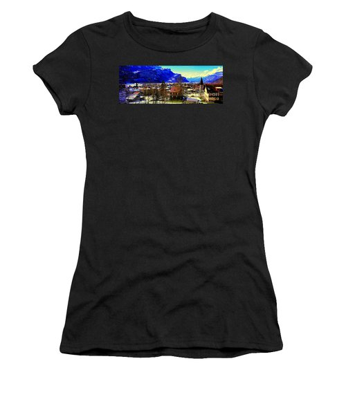 Meiringen Switzerland Alpine Village Women's T-Shirt (Athletic Fit)