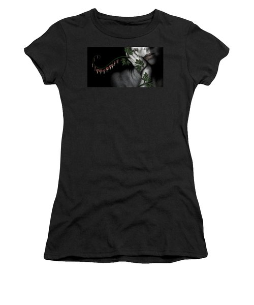 Women's T-Shirt (Junior Cut) featuring the painting Melancholy by Pat Erickson