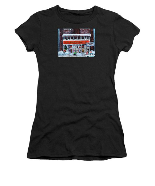 Memories Of Winter At Woolworth's Women's T-Shirt (Athletic Fit)