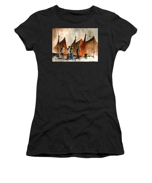 Men Looking At Hookers  Galway Women's T-Shirt