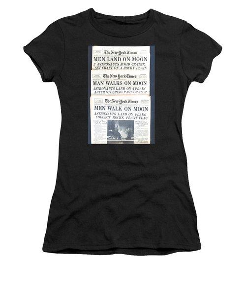 Men Walk On The Moon Women's T-Shirt