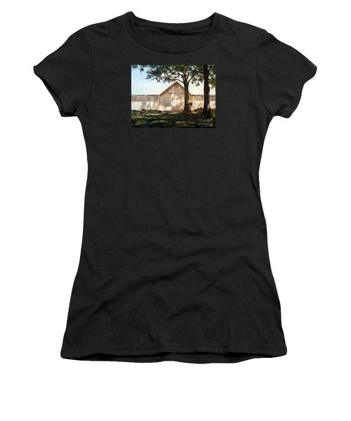 Women's T-Shirt (Junior Cut) featuring the painting Merchants Hall by Lee Piper