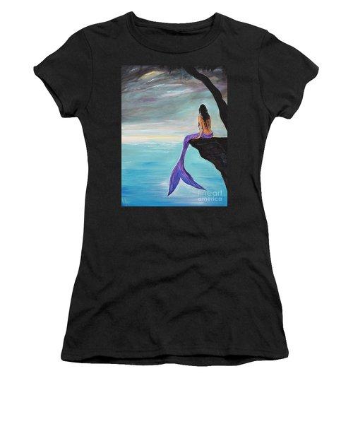 Mermaid Oasis Women's T-Shirt (Junior Cut) by Leslie Allen