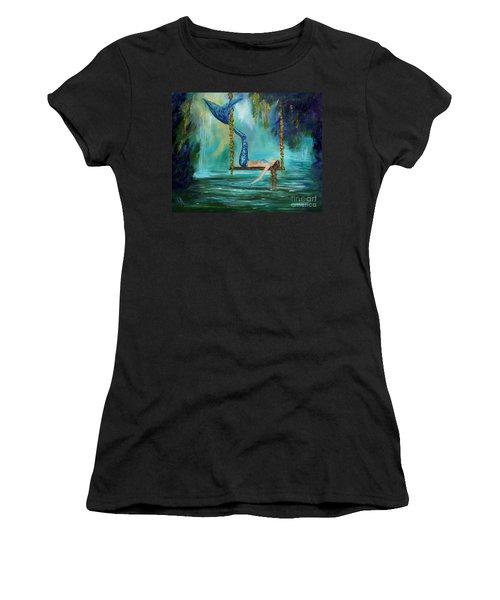 Mermaids Lazy Lagoon Women's T-Shirt (Athletic Fit)