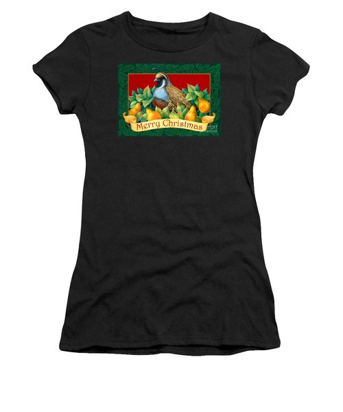 Merry Christmas Partridge Women's T-Shirt (Athletic Fit)