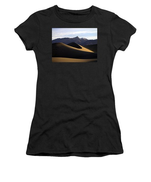 Women's T-Shirt (Junior Cut) featuring the photograph Mesquite Dunes At Dawn by Joe Schofield