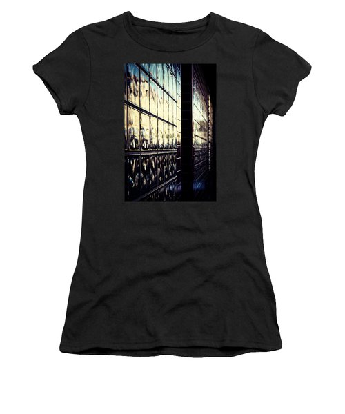 Women's T-Shirt (Junior Cut) featuring the photograph Metallic Reflections by Melanie Lankford Photography